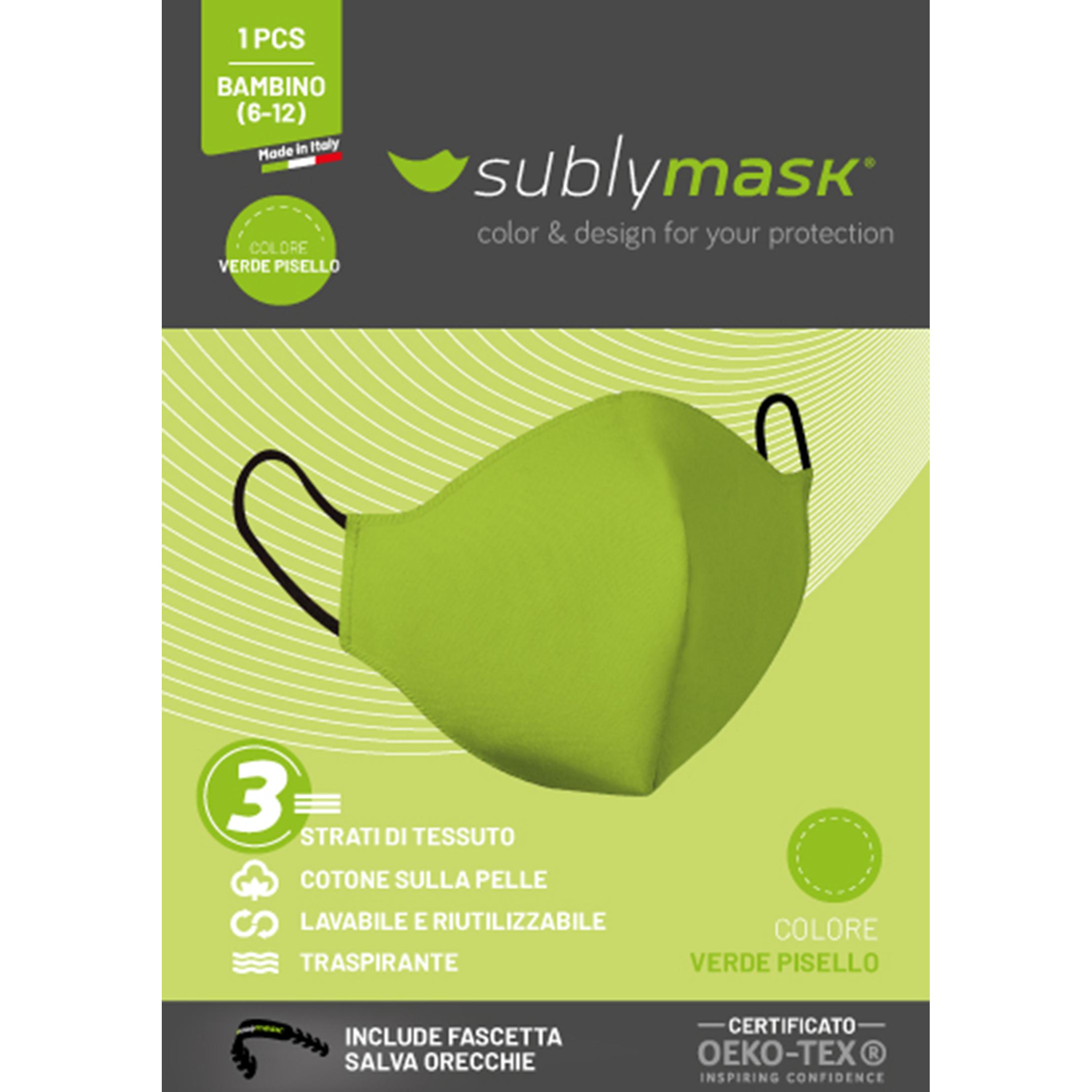 mascherina bambino verde2