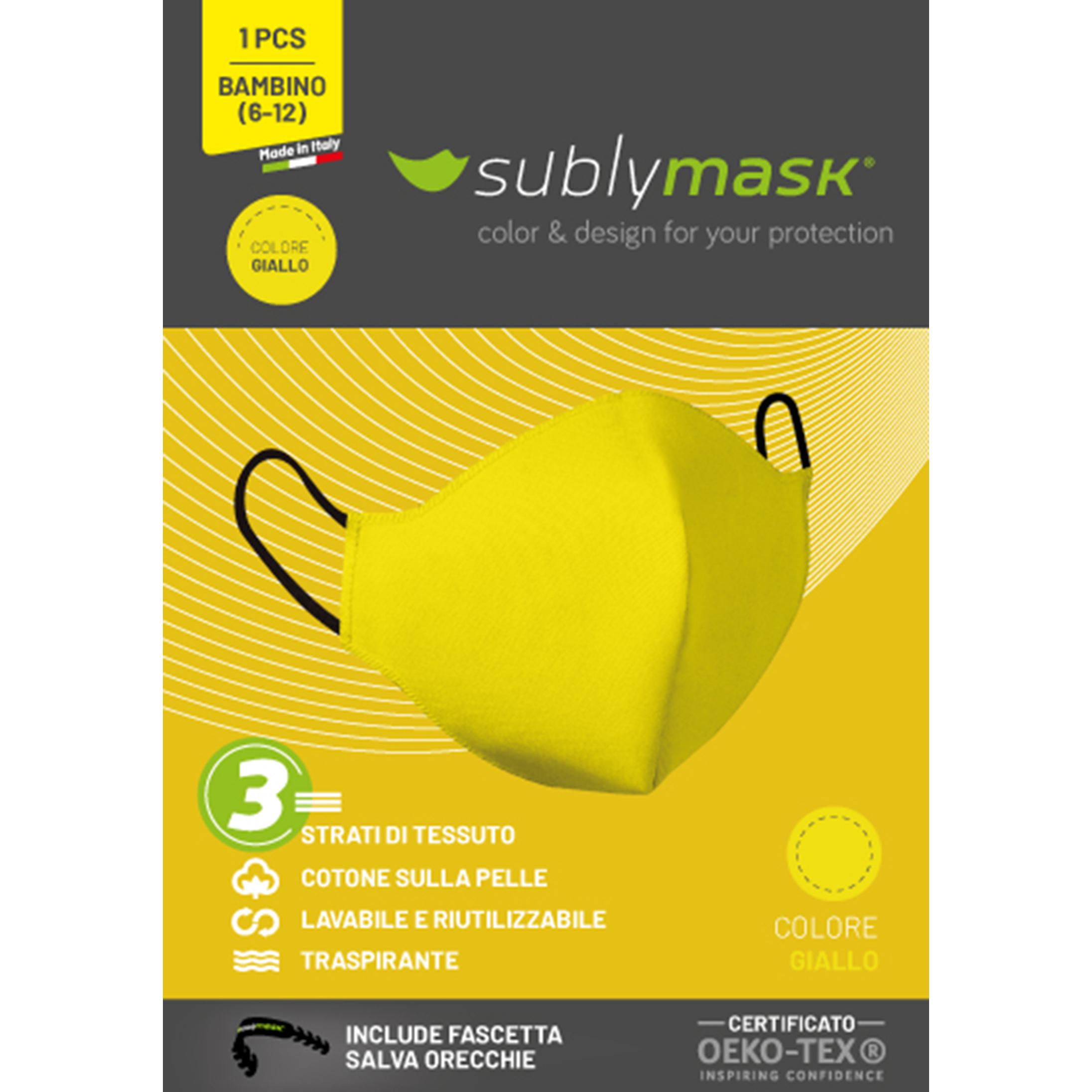 mascherina bambino giallo2