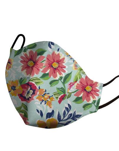 mascherina bambino flowers