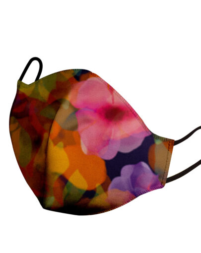 mascherina adulto flower